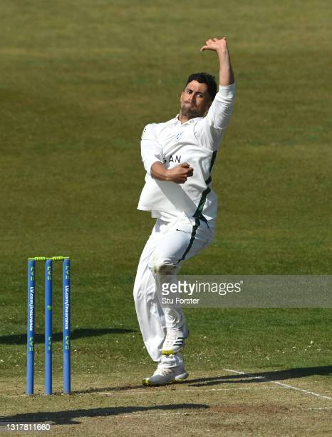 Worcestershire bowler Brett D'Oliveira in bowling action during day one of the LV=Insurance County Championship match between Durham v Worcestershire...