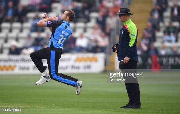 Worcestershire bowler Charlie Morris in action during the Royal London One Day Cup match between Worcestershire and Durham at New Road on April 24...