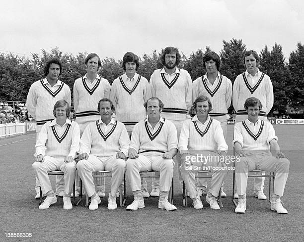 Worcestershire County Cricket team prior to their John Player League match against Kent at the St Lawrence ground in Canterbury 19th August 1973 Back...