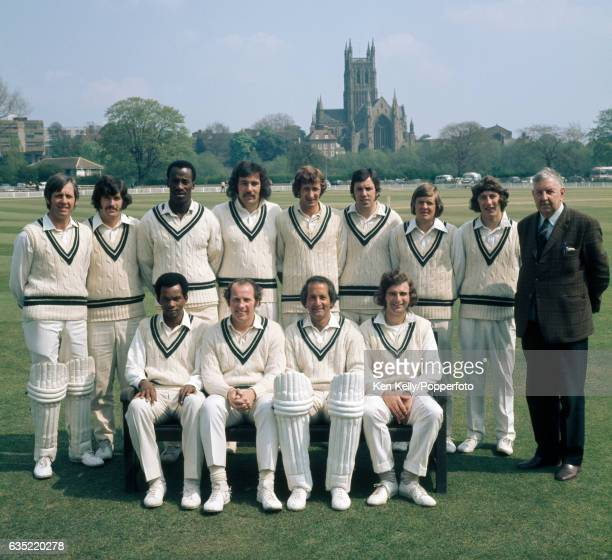Worcestershire cricket team at New Road Worcester circa April 1974 Back row left to right Rodney Cass John Parker Vanburn Holder John Inchmore Brian...