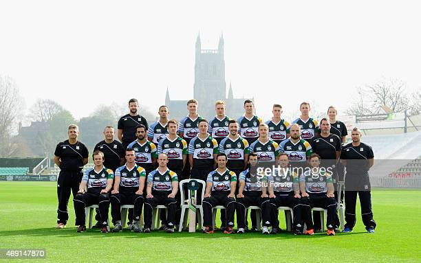 Worcestershire First Team squad pictured in their Pre season Phil Hughes memorial shirt at the Worcestershire County Cricket photocall prior to the...