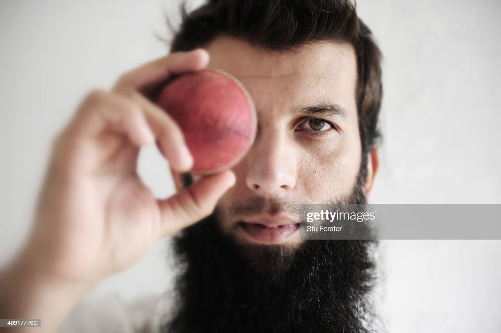 Worcestershire player Moeen Ali pictured at the Worcestershire County Cricket photocall prior to the 2015 Season at New Road on April 10, 2015 in Worcester, England.
