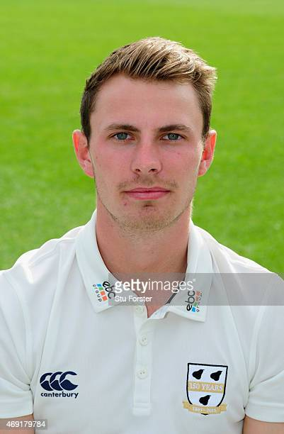 Worcestershire player Tom Fell pictured at the Worcestershire County Cricket photocall prior to the 2015 Season at New Road on April 10 2015 in...