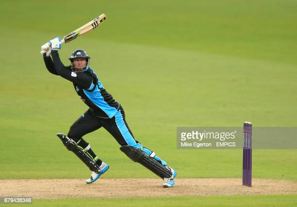 Worcestershire Rapids' Ross Whiteley hits out