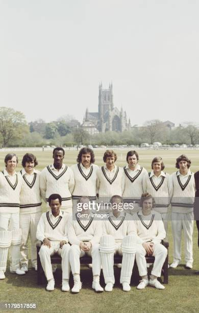 Worcestershire squad pictured ahead of their match against India at New Road on April 27 1974 in Worcester United Kingdom selected players include...