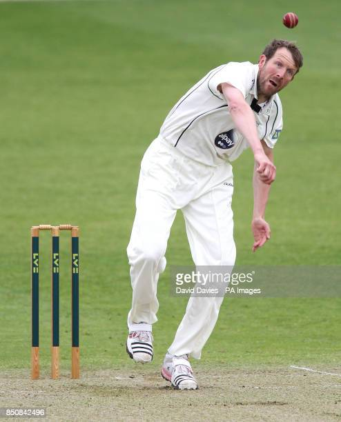 Worcestershire's Alan Richardson during day one of the LV County Championship Division Two match at New Road Worcester