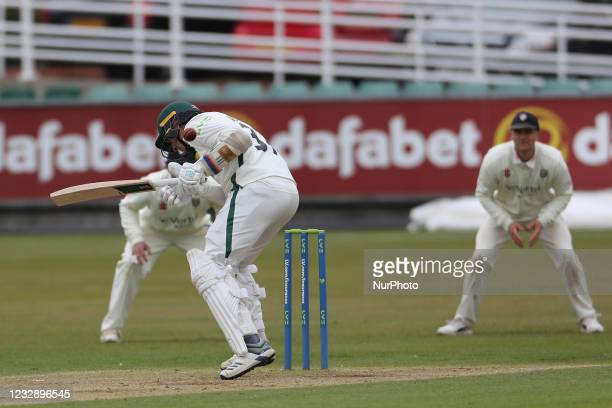 Worcestershire's Charlie Morris batting during the LV= County Championship match between Durham County Cricket Club and Worcestershire at Emirates...
