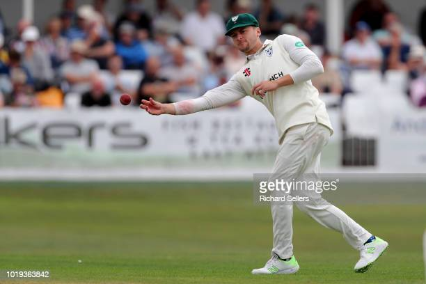 Worcestershire's Joe Clarke in action during day one of the Specsavers Championship Division One match between Yorkshire and Worcestershire at North...