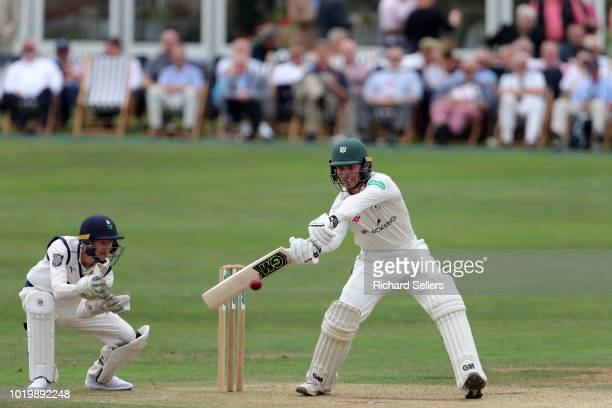 Worcestershire's Daryll Mitchell in bat during day two of the Specsavers Championship Division One match between Yorkshire and Worcestershire at...