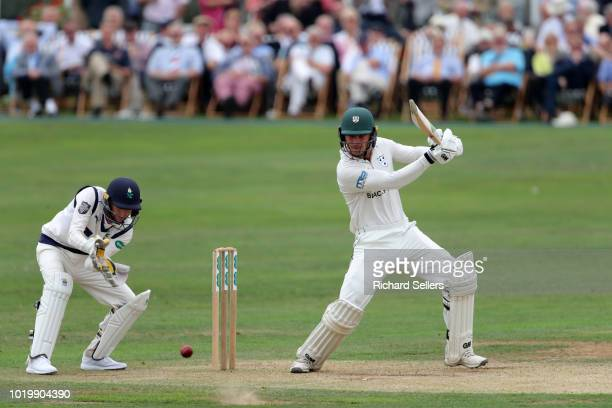 Worcestershire's Moeen Ali in bat during day two of the Specsavers Championship Division One match between Yorkshire and Worcestershire at North...