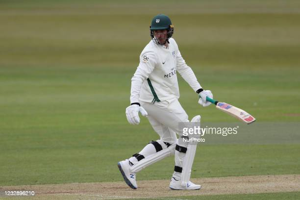 Worcetershire's Josh Tongue during the LV= County Championship match between Durham County Cricket Club and Worcestershire at Emirates Riverside,...