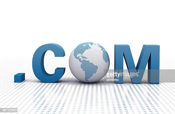 3 D Wort und Erde Globus .COM