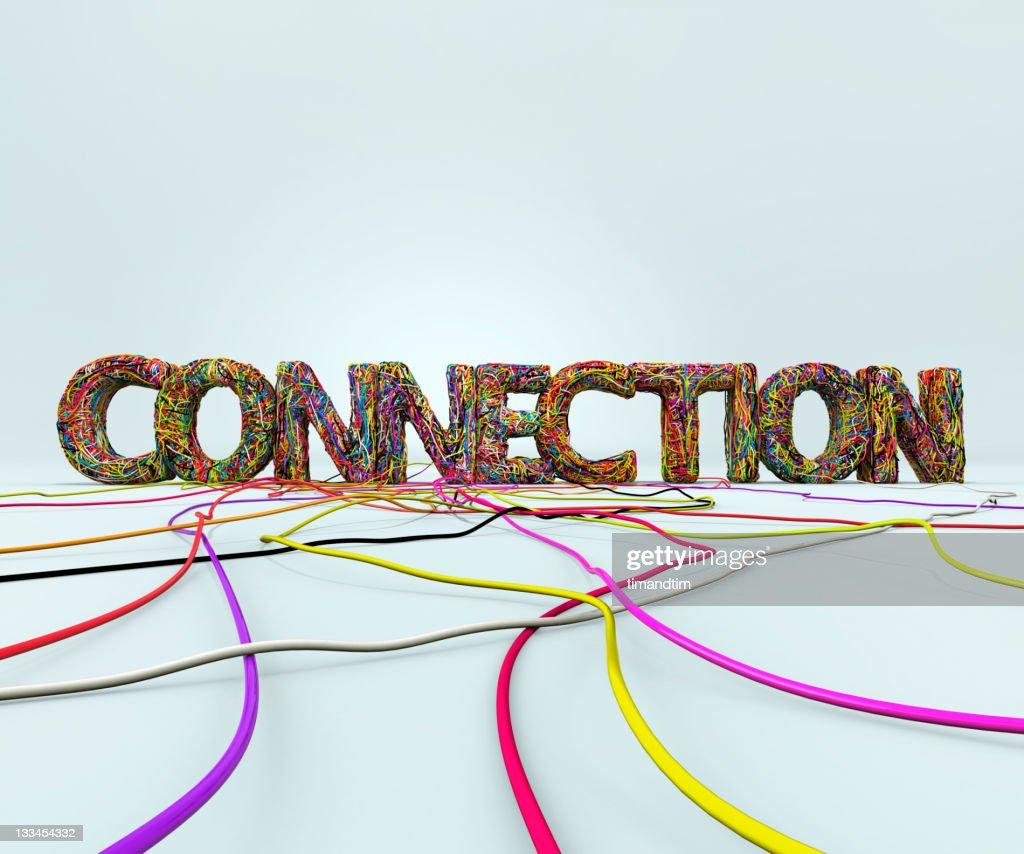 word connection made with wires : Stock Photo