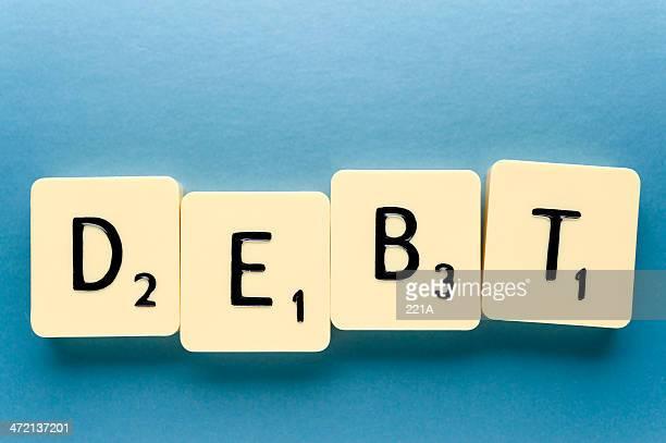 Word: Debt (on blue)