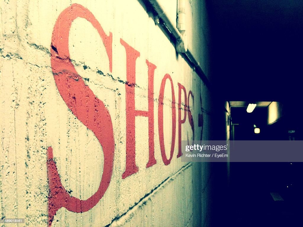Word Shop Written On Wall Stock Photo | Getty Images