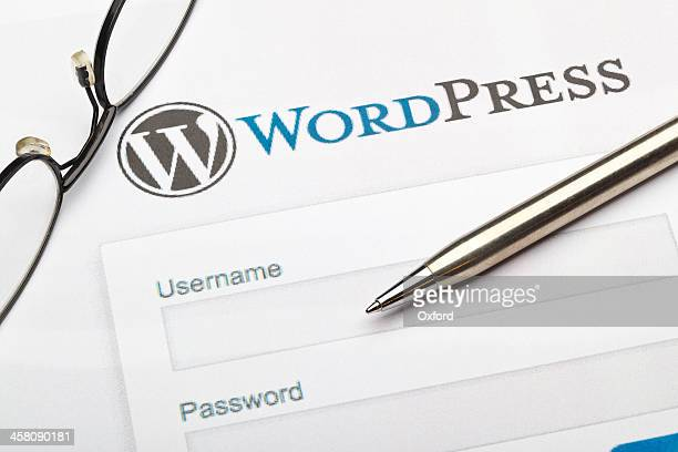 wordpress - log on stock photos and pictures