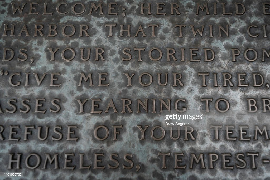 Words From The New Colossus Poem By Emma Lazarus Are
