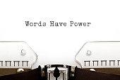 Words Have Power Typewriter
