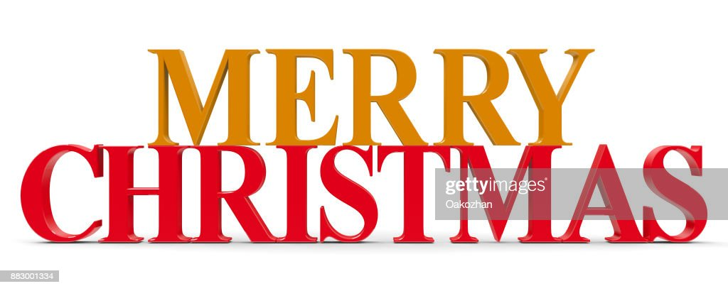 Words Merry Christmas Stock Photo   Getty Images