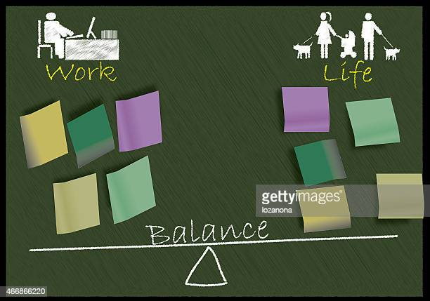 Work and life balance concept, life work balance  in scale