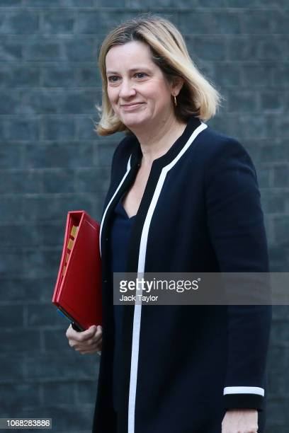 Work and Pensions Secretary Amber Rudd arrives at 10 Downing Street as Ministers attend a weekly cabinet meeting ahead of a meaningful vote debate on...