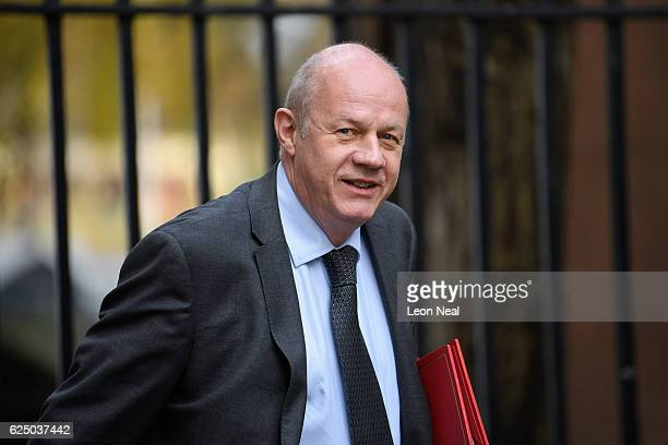 Work and Pensions Secretary Damian Green arrives ahead of a Social Reform meeting at 10 Downing Street on November 22 2016 in London England...