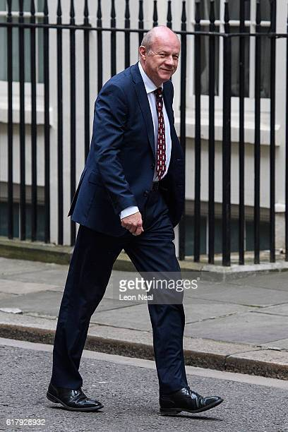 Work and Pensions Secretary Damian Green arrives at number 10 Downing Street ahead of a Cabinet meeting on October 25 2016 in London England The...
