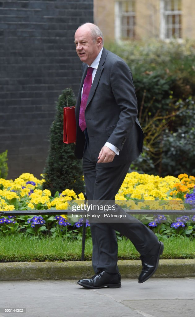 Work and Pensions Secretary Damian Green arriving at 10 Downing Street, London for the weekly cabinet meeting.