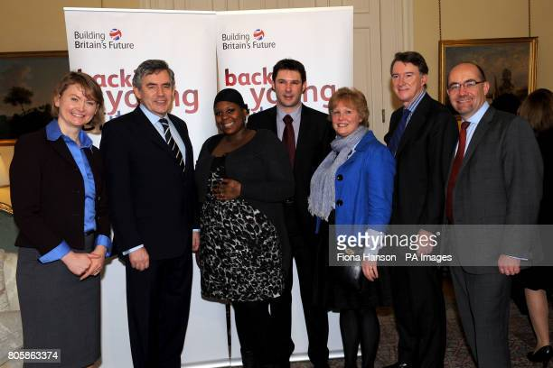 Work and Pensions Secretary Yvette Cooper Prime Minister Gordon Brown Lord Mandelson and Minister of State for Schools and Learners Jim Knightat a...