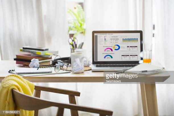 work at home concept still life image. - home office stock pictures, royalty-free photos & images