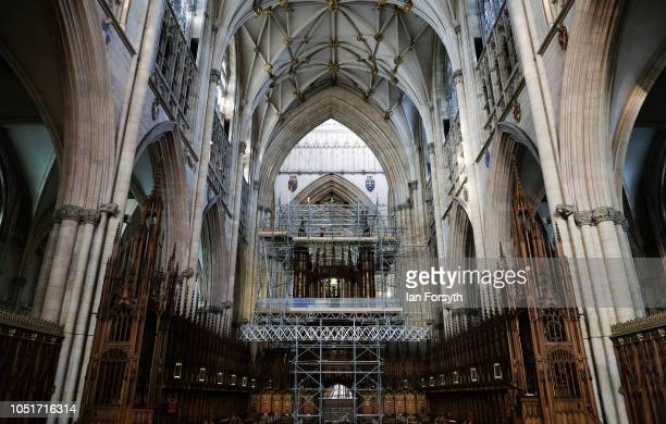 Work begins to refurbish York Minster's Grand Organ for the first time in 100 years on October 9 2018 in York England The major onceinacentury...