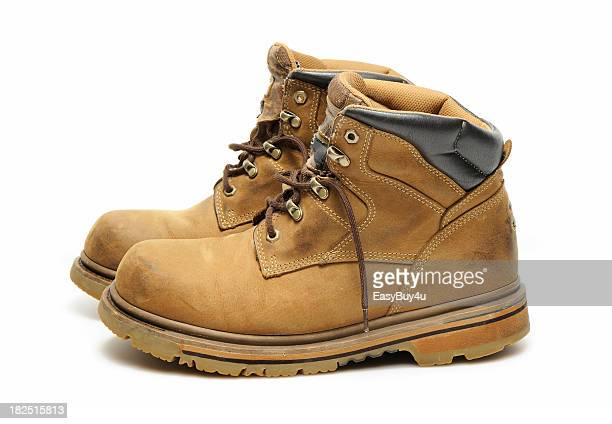 work boots - white boot stock pictures, royalty-free photos & images