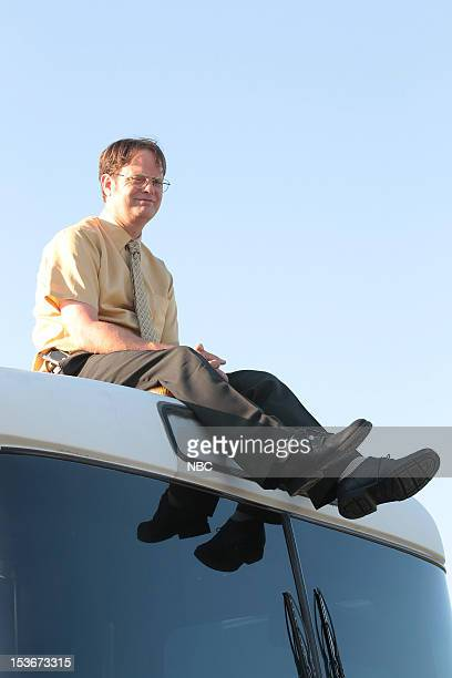 THE OFFICE Work Bus Episode 904 Pictured Rainn Wilson as Dwight Schrute