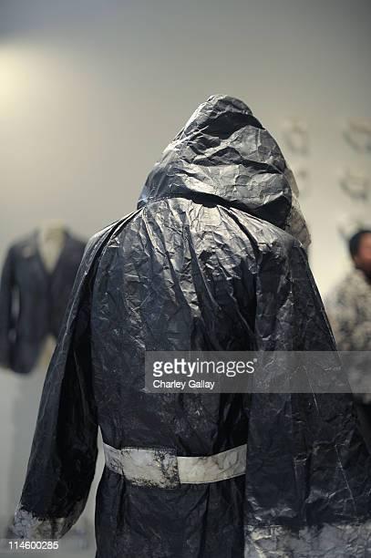 Work by artist/designer Greg Lauren is seen at the Los Angeles party for Alteration presented by Greg Lauren on May 1 2010 in Los Angeles California
