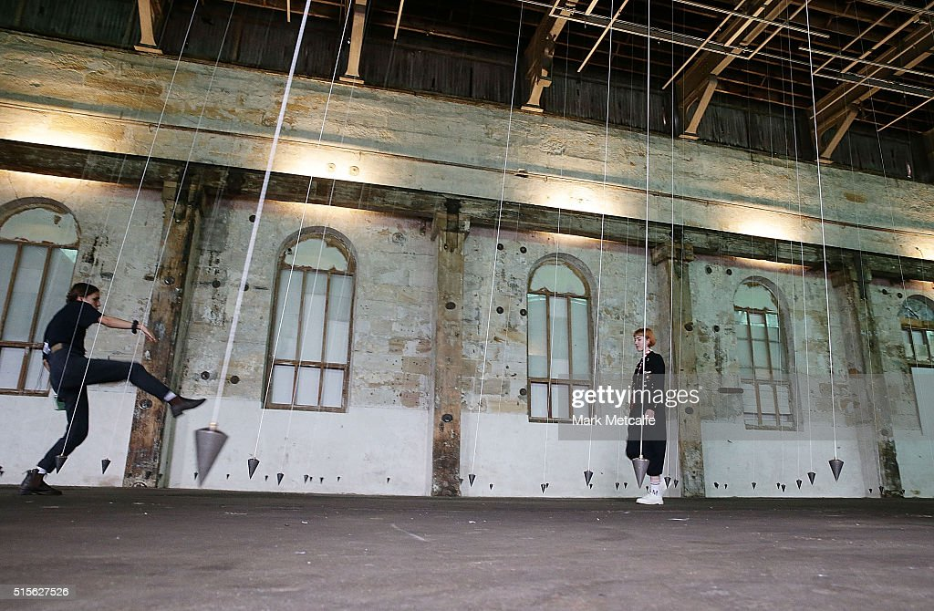 A work by William Forsythe is seen during the preview for