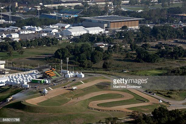 Work continues at the Mountain Bike Center in the Extreme Park at Deodoro in preparation for the 2016 Olympic Games on July 4 2016 in Rio de Janeiro...