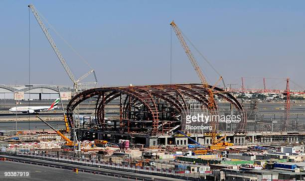 Work continues on Concourse 3 at the Dubai International Airport in Dubai United Arab Emirates on Tuesday Nov 24 2009 Dubai whose government and...