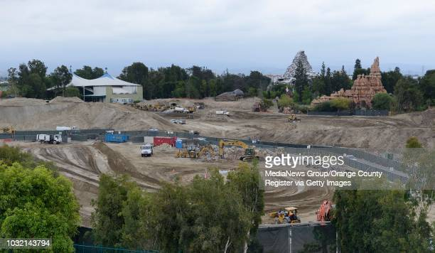 Work continues on Star Wars Land as Disney prepares to demolish the Fantasyland terminus off the former Skyway ride at Disneyland the small building...
