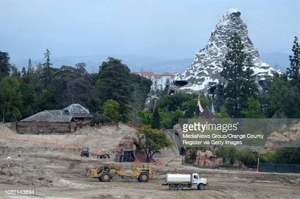 Work continues on Star Wars Land as Disney prepares to demolish the Fantasyland terminus off the former Skyway ride at Disneyland the building on the...