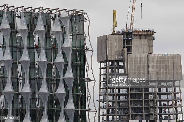 Work continues on the American Embassy in the Nine Elms area on October 26 2016 in London England