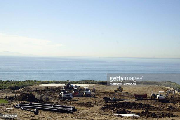 Work continues on the grounds of The Trump National Golf Club on January 14, 2005 in Rancho Palos Verdes, California. The golf course is part of a...