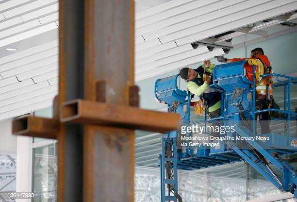 Work continues on the Salesforce Transit Center in San Francisco Calif on Thursday March 14 2019 The center was closed shortly after it opened nearly...