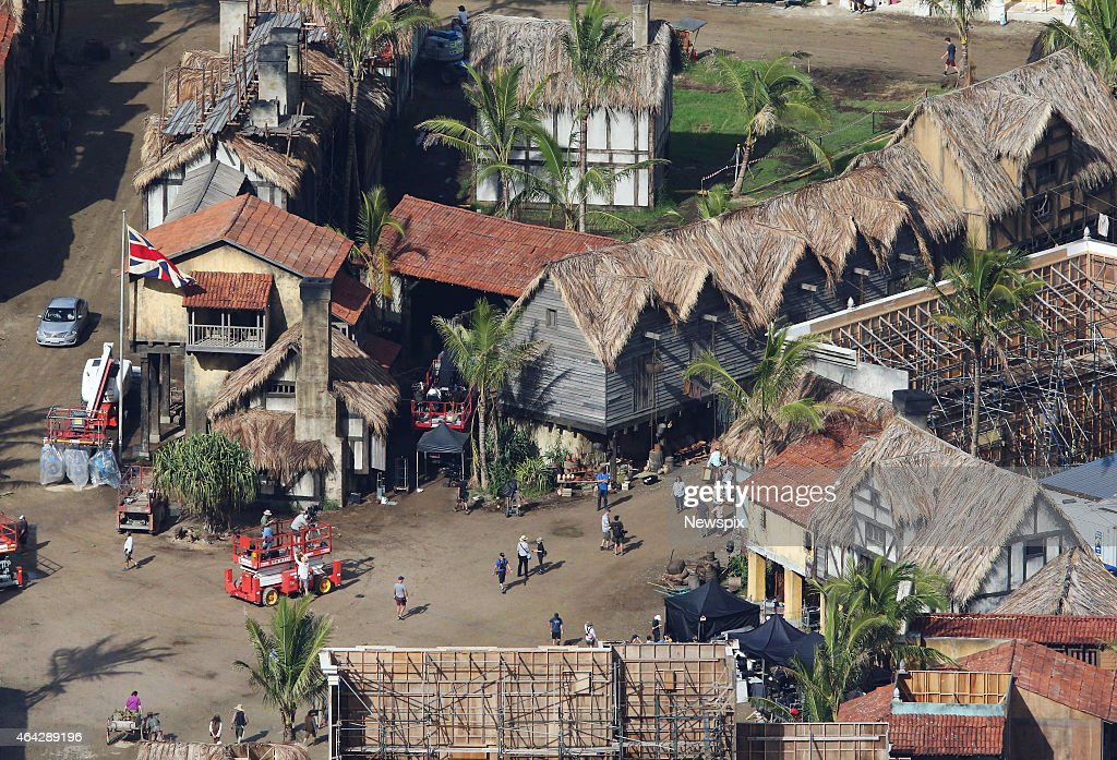 Work Continues On The Set Of Film Pirates Caribbean Dead Men