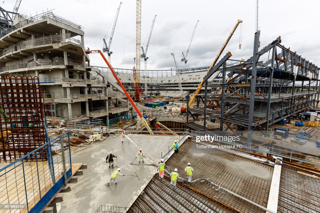 Work Continues On Tottenham Hotspur's New Stadium at White Hart Lane on August 15, 2017 in London, England.