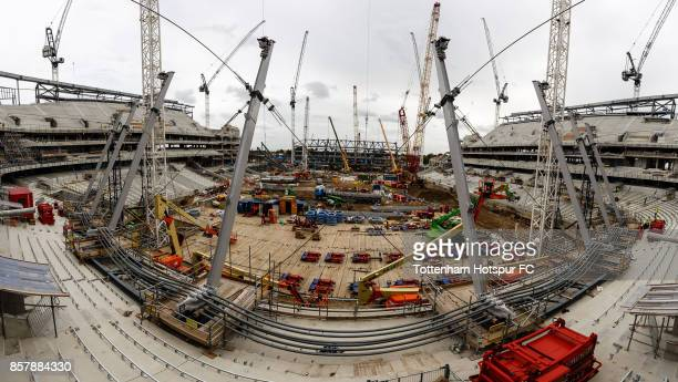Work Continues On Tottenham Hotspur's New Stadium at White Hart Lane on August 15 2017 in London England