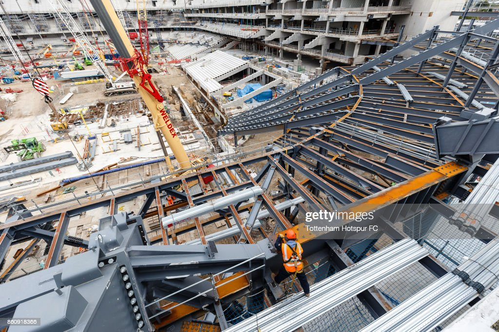 Work continues on Tottenham Hotspur's New Stadium at White Hart Lane on October 11, 2017 in London, England.