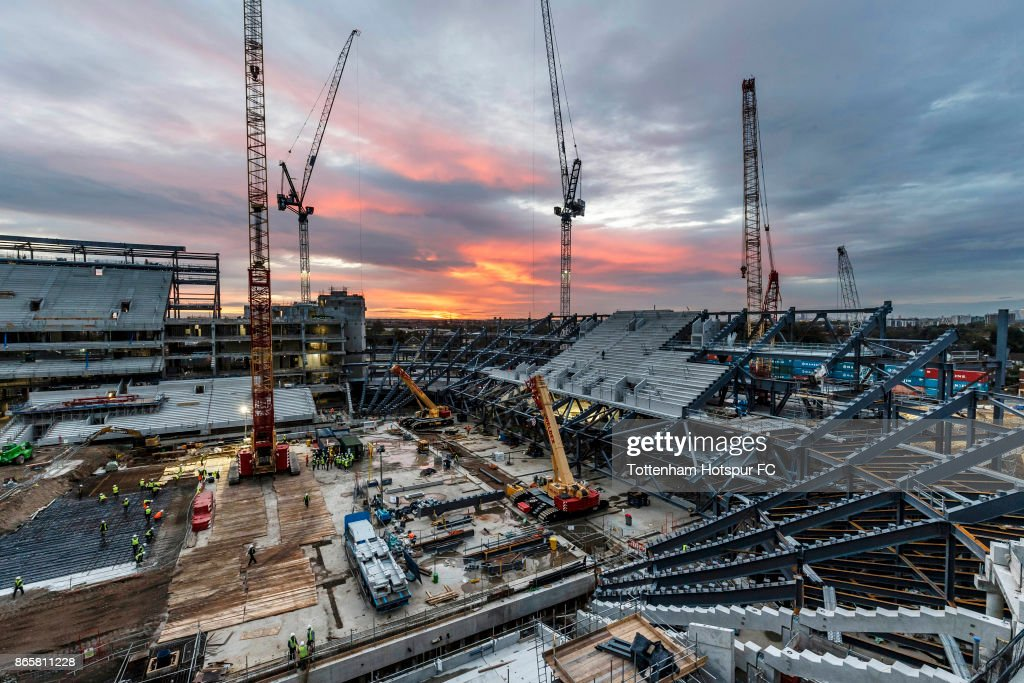 Work continues on Tottenham Hotspur's New Stadium at White Hart Lane on October 23, 2017 in London, England.