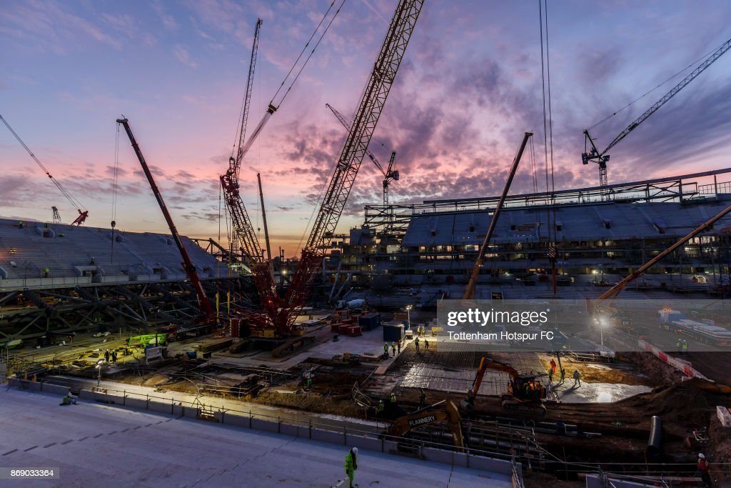 Work continues on Tottenham Hotspur's New Stadium at White Hart Lane on October 30, 2017 in London, England.