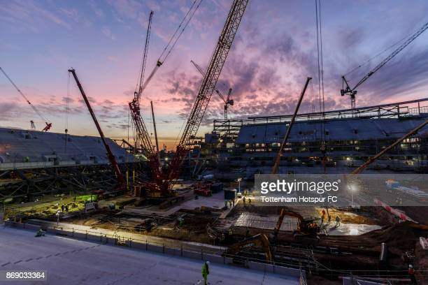 Work continues on Tottenham Hotspur's New Stadium at White Hart Lane on October 30 2017 in London England