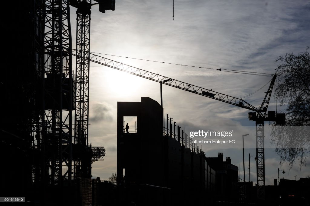 Work continues on Tottenham Hotspur's New Stadium at White Hart Lane on January 10, 2018 in London, England.